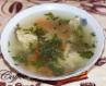 Курячий суп зі смаженими макарончиками