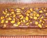 Шоколадний пиріг з персиками