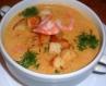 Сирний крем-суп з креветками